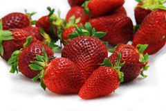 Strawberry fruit isolated white Stock Photo