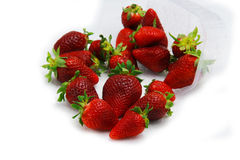 Strawberry fruit isolated white Royalty Free Stock Photography