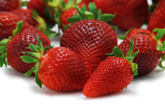 Strawberry fruit isolated white Royalty Free Stock Images