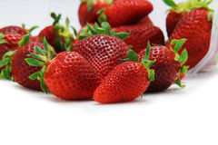Strawberry fruit isolated white Royalty Free Stock Photo