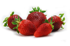 Strawberry fruit isolated white Stock Image