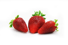 Strawberry fruit isolated white Stock Photography