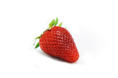 Strawberry fruit isolated white Stock Photos