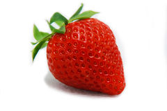 Strawberry fruit isolated white Royalty Free Stock Photos