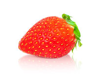 Strawberry fruit isolated on white background Royalty Free Stock Photos