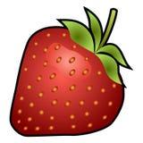 Strawberry fruit isolated on white background Royalty Free Stock Image