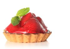 Strawberry fruit tart Royalty Free Stock Images