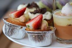 Strawberry fruit tart. Royalty Free Stock Photos