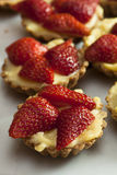 Strawberry Fruit Tarts Royalty Free Stock Photos
