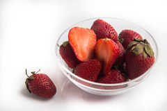 Strawberry fruit on the white Stock Image