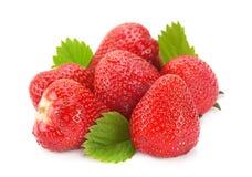 Strawberry fruit on white Royalty Free Stock Photography