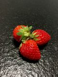 Strawberry fruits CLOSE-UP royalty free stock photo