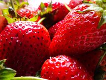 Strawberry fruits sweet vegetables royalty free stock images