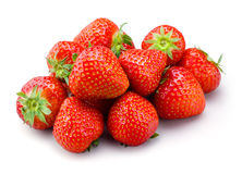 Strawberry. Fruits on white background Stock Images