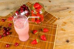 Strawberry fruity smoothie Royalty Free Stock Photos