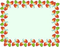 Strawberry Fun Border. Style Design Illustration Royalty Free Stock Photography