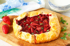 Strawberry galette Stock Photography