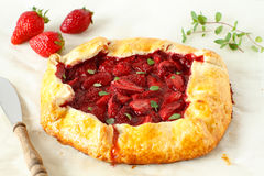Strawberry galette Royalty Free Stock Photos