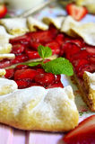 Strawberry galette. Royalty Free Stock Images