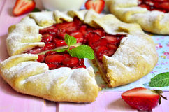 Strawberry galette. Stock Images