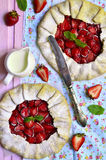 Strawberry galette. Royalty Free Stock Photography