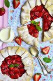 Strawberry galette. Royalty Free Stock Photo