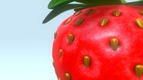 Strawberry. The garden strawberry is a widely grown hybrid species of the genus Fragaria royalty free stock photography