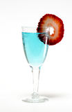 Strawberry Garnish Drink Royalty Free Stock Photography