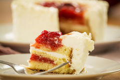 Strawberry gateau Stock Images