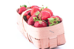 Strawberry gathered on a private kitchen garden Stock Photography