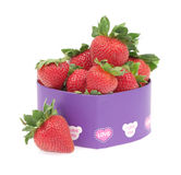 Strawberry in a gift box Royalty Free Stock Image