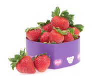 Strawberry in a gift box Royalty Free Stock Photo