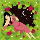 Strawberry girl Royalty Free Stock Photo