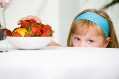 Strawberry girl Stock Image
