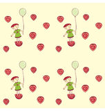 Strawberry Girl Pattern Royalty Free Stock Images