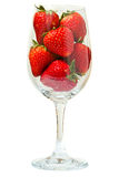 Strawberry in the glass Stock Photos
