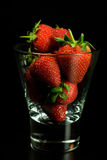 Strawberry in glass Royalty Free Stock Photography