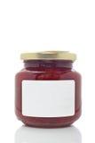 Strawberry glass jar Stock Photo