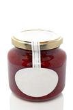 Strawberry glass jar Royalty Free Stock Photography