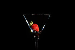 Strawberry in a glass Stock Photo