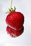 Strawberry on glass Royalty Free Stock Image