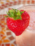 Strawberry on glass Royalty Free Stock Images