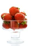Strawberry in a glass vase Stock Photo