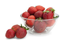 Strawberry in a glass vase Royalty Free Stock Photography