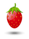 Strawberry glossy icon Royalty Free Stock Images