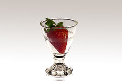 Strawberry in a Goblet Royalty Free Stock Photography