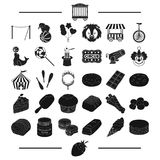 Strawberry, goodies, entertainment and other web icon in black style.bar, horn, pie, icons in set collection. Stock Photos