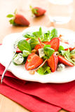 Strawberry gorgonzola salad Royalty Free Stock Image
