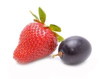 Strawberry and grape Stock Image