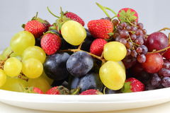 Strawberry grape mix Stock Photo